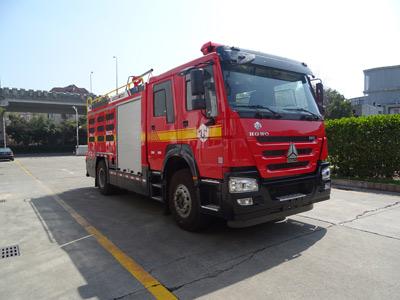 天河牌LLX5195GXFGF40/H干粉消防车图片