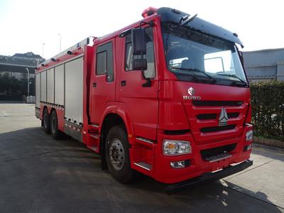 天河牌LLX5255GXFGF60/H干粉消防车