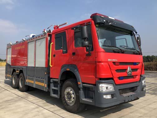 振翔牌MG5280GXFGP110/E5干粉泡沫联用消防车